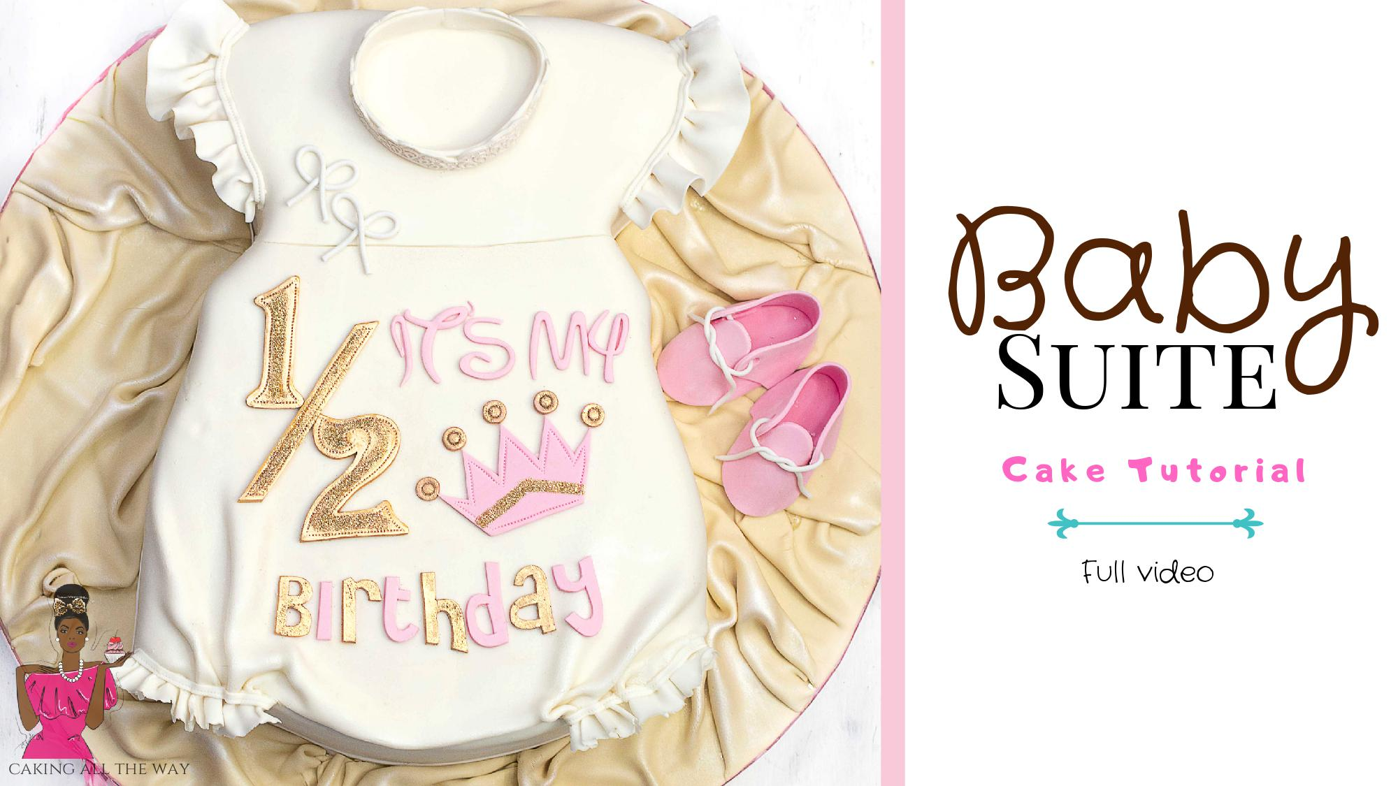 Baby Sleep Suit Cake