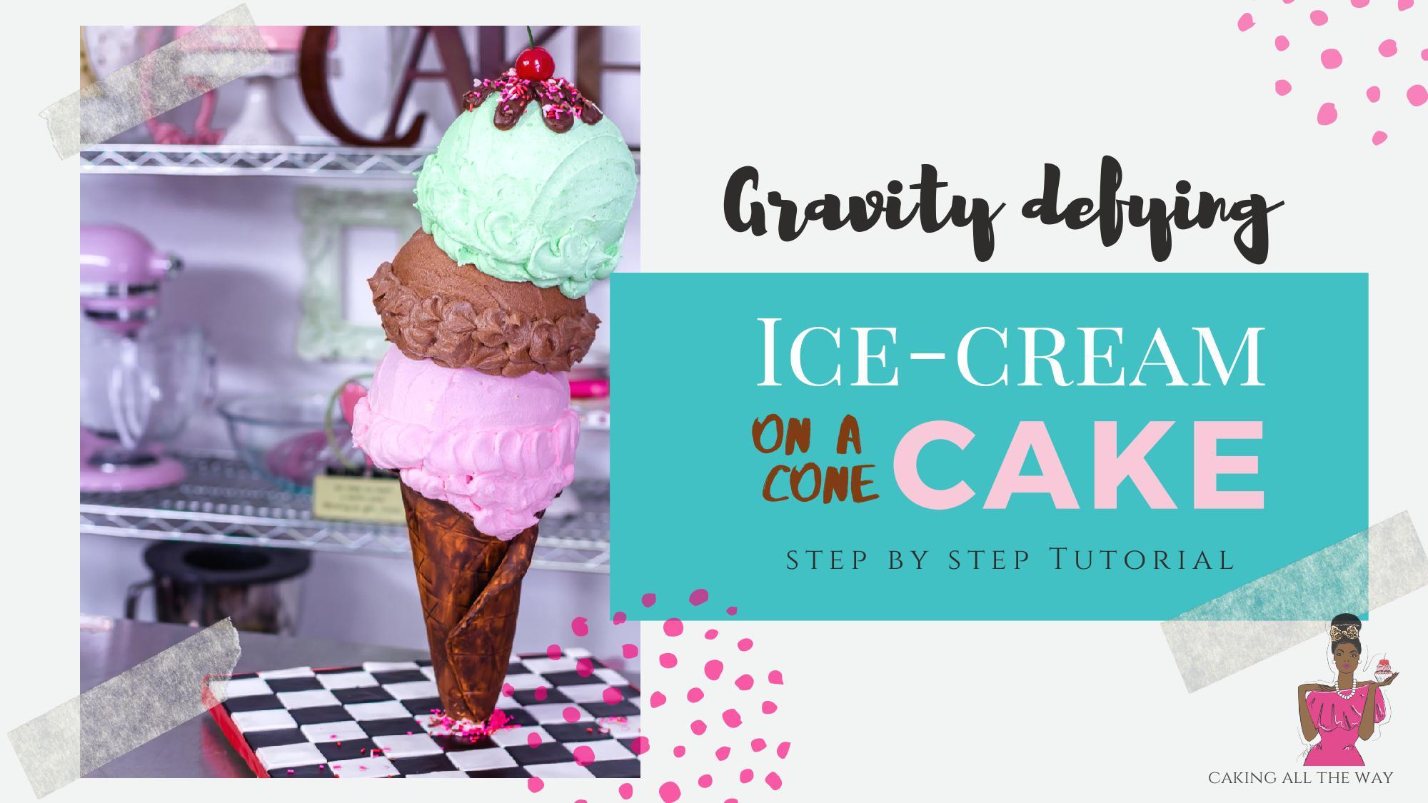 3D Ice-cream cone Cake