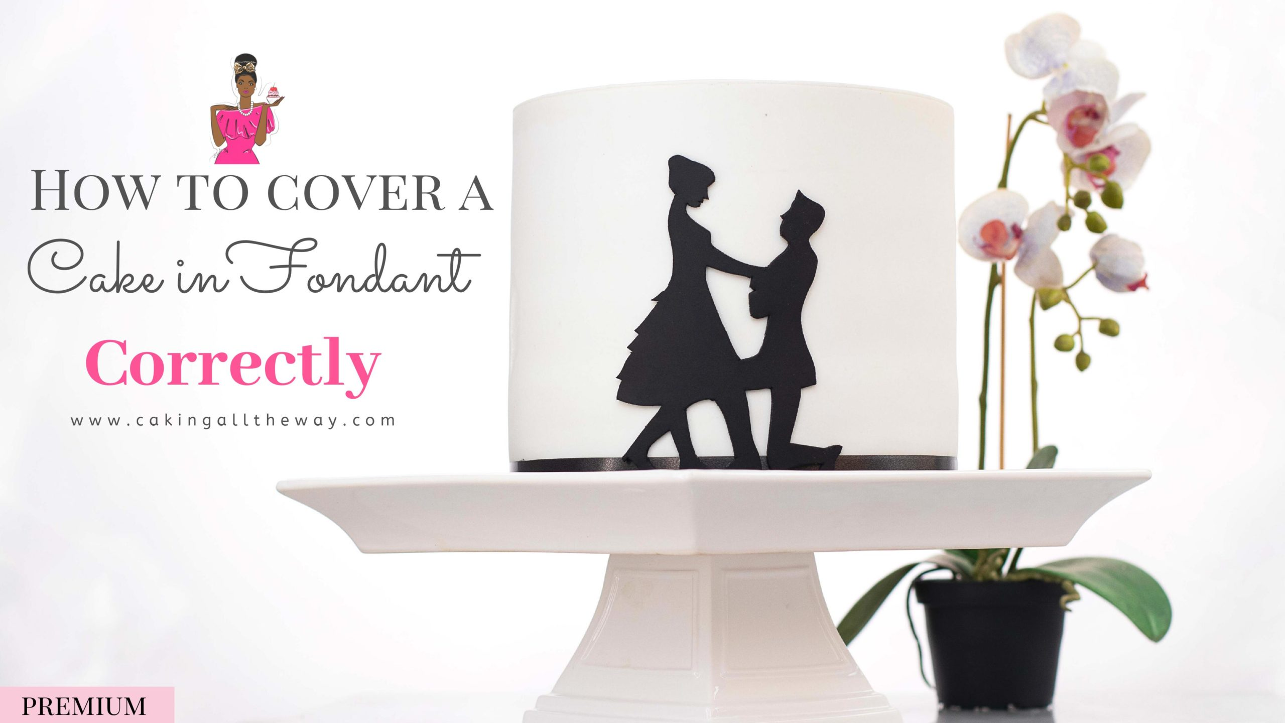 How to make and cover a Cake in Fondant