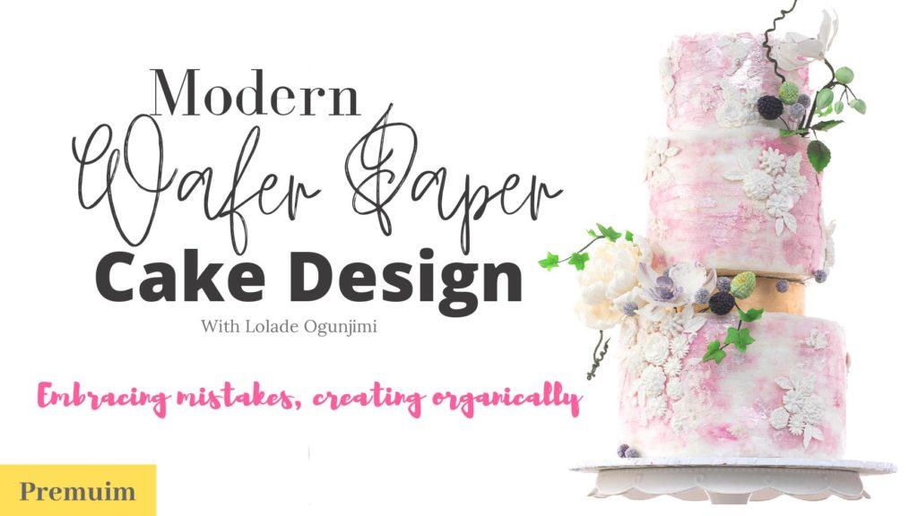 Modern Wafer Paper cake designs