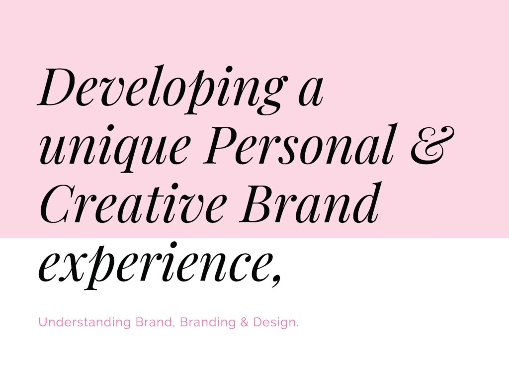 Personal and Creative business branding
