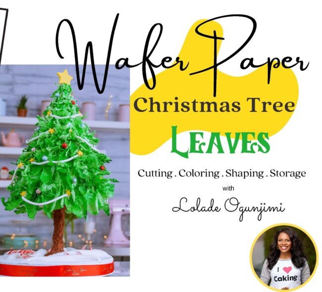 Wafer paper Christmas tree leaves